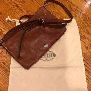 Fossil cross body leather bag